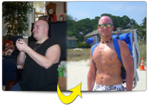 This is what 115 pounds of fat loss looks like.